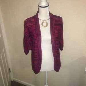 Open front pink/purple cardigan size M
